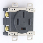 Flush Mount Outlet - Flat-Blade 7120GD