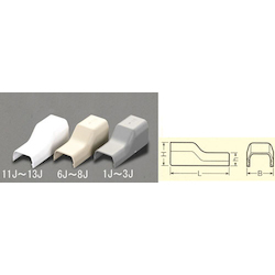 [Plastic] Cable Cover Joint [Corner] EA947HM-1J