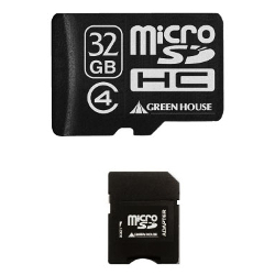 MicroSDHC Card with Class4 SD Card Conversion Adapter