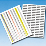 Tab Tag Label, Tab Label for Laser Printer (made of polyester film)