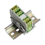 Clutch Lock Terminal Block, Compact Series (rail type), Earth Dedicated Type