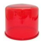 Cover globe for rotating indicator lamp
