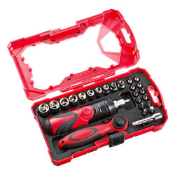 26-in-1 Ratchet Handle and Screwdriver Set