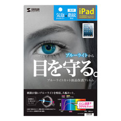 Blue Light Cut Liquid Crystal Protective Film for 2nd, 3rd, and 4th generation iPads.