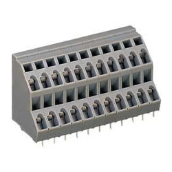 Two-step terminal block (for printed circuit board), 736 series