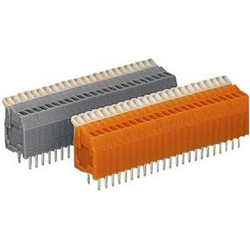Terminal block for printed circuit boards, 234 series, max 0.5 mm2, with overhead operation lever.