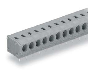 Terminal block for printed circuit boards, without push button, 235 series.