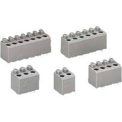 Terminal block for printed circuit boards, with push button, 735 series