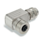 M12 Female (Socket) Metal Angle Connector