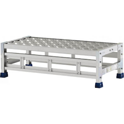 Workbench (Checkered Plate Type, Metal Fitting SUS Specifications), Top Width 800 mm