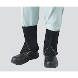 Black Leather Gaiters