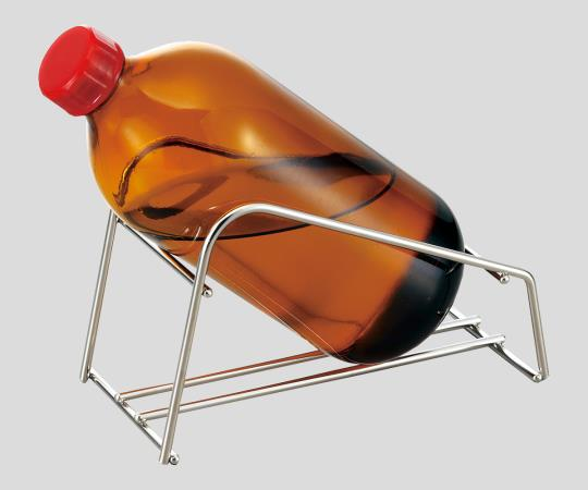 Chemical safe, incline bottle holder