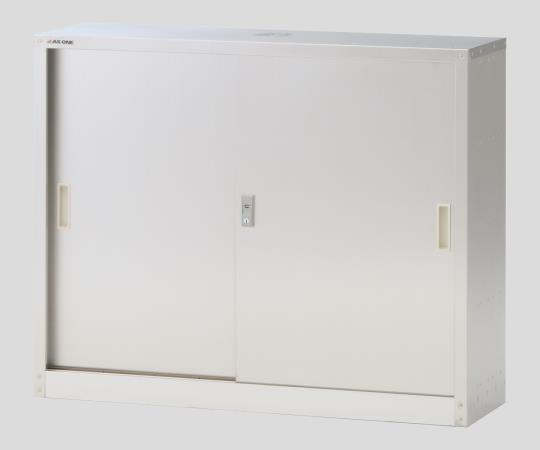 Slim chemical storage (flat shelf margin door)