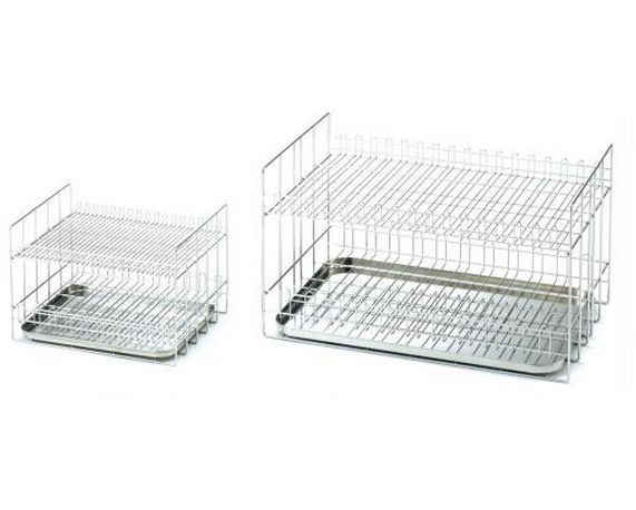 Volumetric Cylinder Rack Compatible Volumetric Cylinders Small: 5 to 25 ml Medium: 50 to 250 ml Large: 300 to 2,000 ml