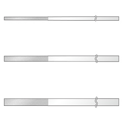 Flat-Taper Diamond File for Precision Use