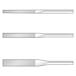 Flex Flat-Taper Diamond File For Precision Use