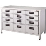 Stainless Steel Storage Cabinet Vertical Drawer-Attached Depth 450 mm Type