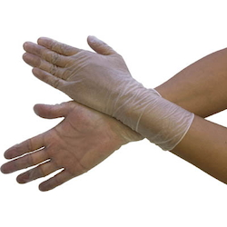 PVC Gloves Long Smooth Type (100 Pieces) Embossed
