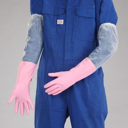 Thick PVC Gloves with Arm Cover EA354GH-1