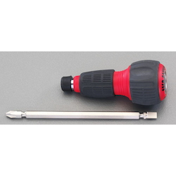 (+)(-) Power Grip Screwdriver Handle [Ratchet Type] EA564AH-10AA