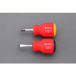 [2 Pcs] (+)(-) Stubby Screwdriver EA564DH-12