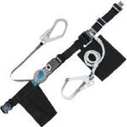 Twin Lanyard Safety Belt - with One-Touch Buckle, Winding Type + Rope Type
