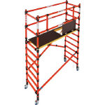 Collapsible-Type Elevated Work Platform Zippy (Made of FRP, for Electrical Work)