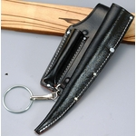 Black Split Leather Spike and Hooking Tool Holder