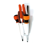 Slotted White Leather Pliers / Tools Holder with Screwdriver Holder (Double Seam)