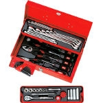 Tool Set (Single Door Metal Case Type) (Insertion Angle 9.5 mm) Red