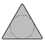 "60° Triangle Positive without Hole TPGR○○-B ""Medium Finishing"""