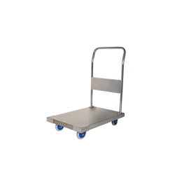 Small Quiet Stainless Steel Hand Trolley - Fixed-Handle Type