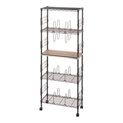 Luminous 19 mm Series Book Rack with Wooden Shelving