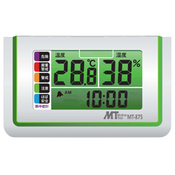 Thermo-Hygrometer with Heatstroke Index Meter Display for Tabletops
