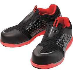 Ventilated Lightweight Pro Sneakers Mandom Safety Light (slip-on type) Red / Black
