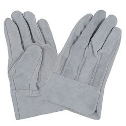 Cowhide Split Leather Gloves Back Seam