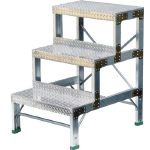 Work Stool, Checker Plate Type, Top Plate Dimensions 600 mm X 340 mm