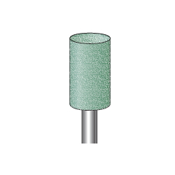Rubber Grindstone, Green, Polisher, Shaft Diameter ⌀6.0