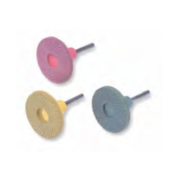 Rubber Grindstone Disc with Shaft (Rubber Pad Integrated Type)
