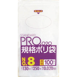 Standard Plastic Bag (Transparent) Thickness 0.02 mm