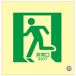 "Medium Bright Luminescent Floor Indication Mark ""Emergency Exit"" Floor 14"