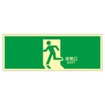 "High Brightness Phosphorescent Emergency Exit Sign ""Emergency Exit"" Luminescent LE-1804"