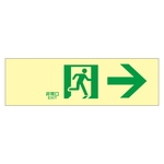 "High Brightness Phosphorescent Passage Guidance Sign ""Emergency Exit →"" Luminescent LE-1901"