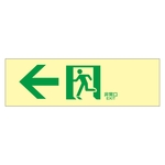 "High Brightness Phosphorescent Passage Guidance Sign ""← Emergency Exit"" Luminescent LE-1902"
