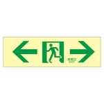 "High Brightness Phosphorescent Passage Guidance Sign ""← Emergency Exit →"" Luminescent LE-1903"