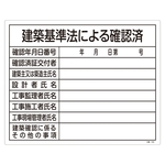 "Construction Sign (Licensing Sign Board) ""Checked according to the Building Standards Act"" Construction -103"