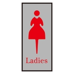 "Toilet Plate ""Ladies"" Toilet -340-2"
