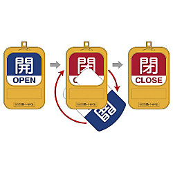 "Opening and Closing Tags for Rotary Valve ""Open, Close"" Special 15-360"