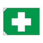 First Aid Symbol Flag (Extra-Large)