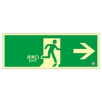 "High Brightness Phosphorescent Emergency Exit Guidance Sign ""Emergency Exit →"" Luminescent SN-2801"